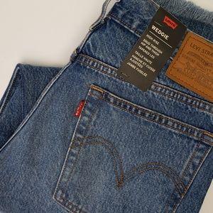 Levi's Wedgie Distressed Raw Hem Jeans NWT